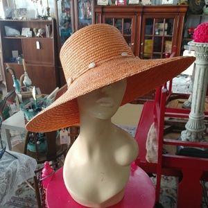 DP Brand Wide Brim Straw Hat